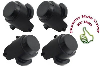 4x PDC Parking Sensor Fake Dummy Hole Cover PDC 18mm Front/Rear Bumper Black