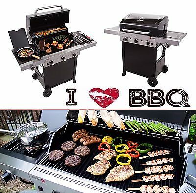 Gas Grill BBQ 3 Burner Propane TRU Infrared 450 Professional Commercial Cooker