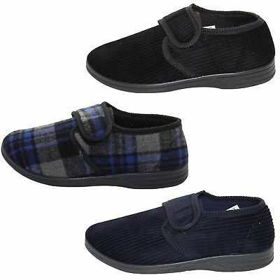 New Mens Outdoor Corduroy Style Slippers Padded Diabetic Friendly Low Top Shoe