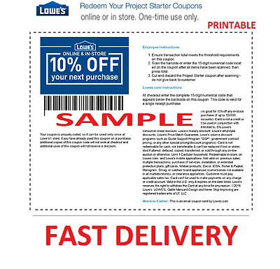 1X One Lowes 10% Off Online And Instore Printable Discount a