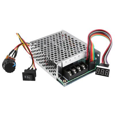 DC 10V-50V PWM Motor Speed Controller CW/CCW Reversible Switch 40A with LED SS