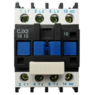 AC Contactor Motor Starter Relay (LC1) CJX2-1810 3P+NO 220V Coil 18A 4KW Blue SS