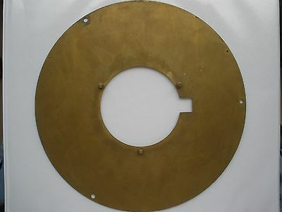 Chelsea Clock Co. 8.5 Inch Brass WWII Model 12E Dial Ring - Dial Mounting Plate