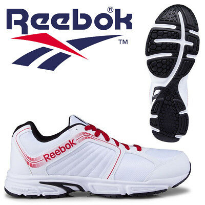 Reebok Tranz Runner RS 2.0 Mens Running Shoes White Classic Sneakers CLEARANCE