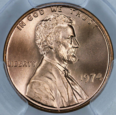 1974 PCGS MS66RD Lincoln Cent