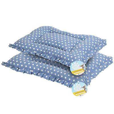 Me & My Pets Blue Polka Dot Warm Washable Dog/cat Car Cage Crate Mat Bed Cushion