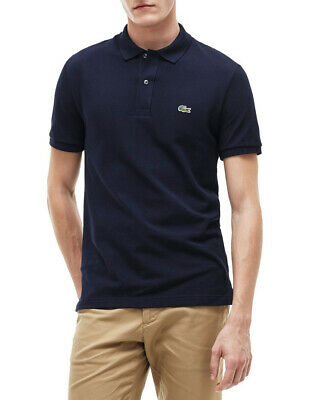 NEW Lacoste Basic Slim Fit Polo Navy