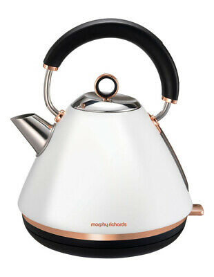 NEW Morphy Richards Accents Rose Gold Collection Kettle: Matte White 102108