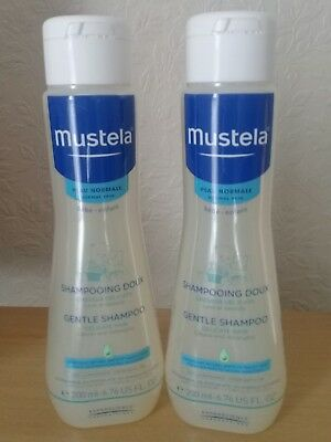 Brand New~Mustela Gentle Shampoo For Babies~2 X 200Ml Size~Long Expiry Dates