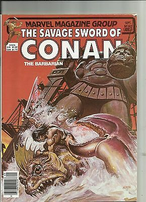 The Savage Sword of Conan The Barbarian  Magazine #80, Marvel (1982)
