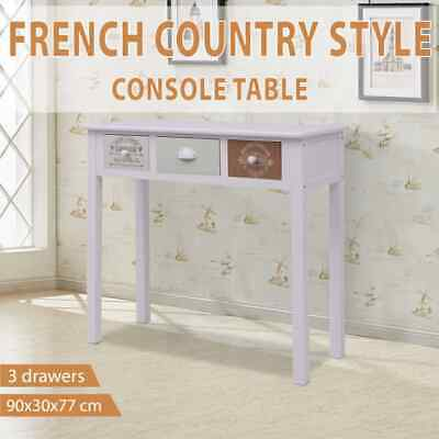 vidaXL French Console Table Wood Home End Coffee Accent Dressing Furniture