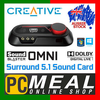 CREATIVE Sound Blaster Omni Surround 5.1 USB Sound Card Dual Mic Optical Out