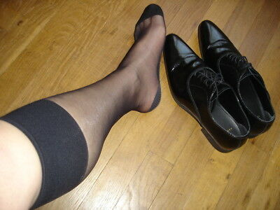 Lot 3 P men/'s socks sheer noir Ref US06 T-39//46 Chaussettes nylon 15D