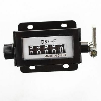 D67-F Black Casing 5 Digits Mechanical Pull Stroke Counter SS