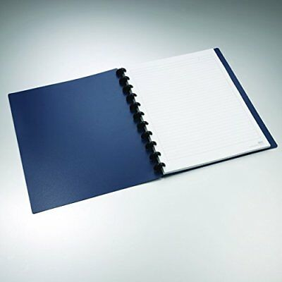 """Staples Arc Customizable Durable Poly Notebook System Navy 11"""" x 8.5"""""""