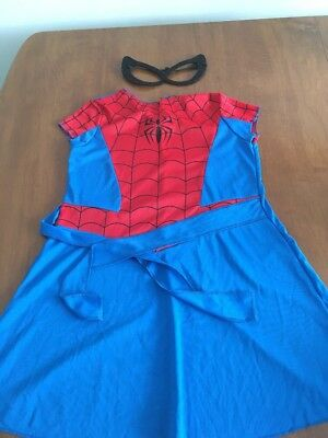 Dress Up Spider Girl Dress With Mask Size M 8-10