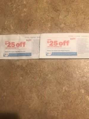 2-$25.00 Meijer Pharmacy Coupon Worth $50