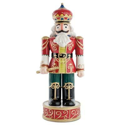 Fitz and Floyd Holiday Nutcracker. Red Classic. New in Box.