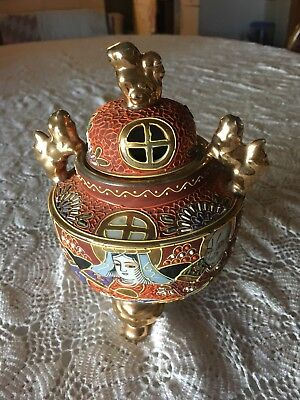 Vintage Japanese decorated Incense burner in great condition. See pics Estate