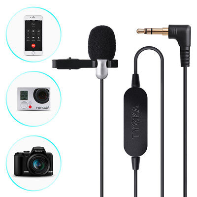 Clip Lapel Lavalier Microphone 3.5mm Jack For iPhone Cell Phone Recording TK305