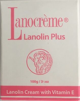 Lanocreme Lanolin Plus Cream with Vitamin E 100g Made in New Zealand EXP 2019
