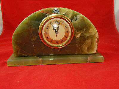 Whitehall Hammond Synchronous Movement Green Brazilian Onyx-For Repair Or Parts