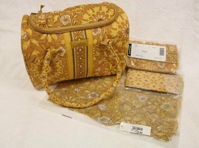 Longaberger Sisters Alysa Handbag, Wallet, Checkbook Cover & Scarf~Golden Fields