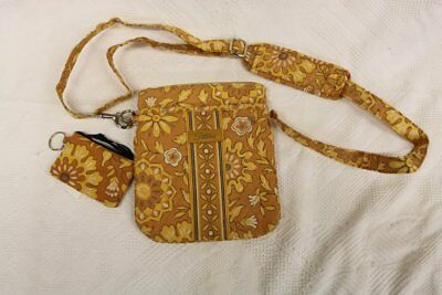 Longaberger Sisters Crossbody Handbag & Coin Purse ~Golden Fields