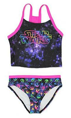 Star Wars Girls Two Piece Tankini Swimsuit Size 5/6 6X 7/8