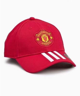 Adidas Manchester United 3 Stripe Red Cap Adults Unisex New Football Sports