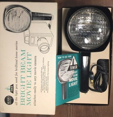 Vintage Sears Roebuck and Co Tower Bright Beam Movie Light NO. 8840 WORKS!