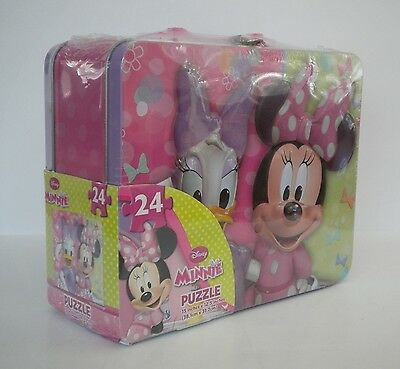 Walt Disney Minnie Mouse Tin Lunch Box Puzzle NEW SEALED  #36749