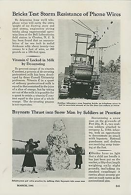 1941 Magazine Article Bell Laboratories Tests Phone Lines West Chester NJ