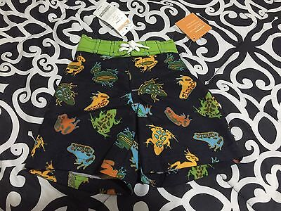 NWT Gymboree Boy's 6 - 12 months Swim Diaper Cover trunks frogs toads infant new