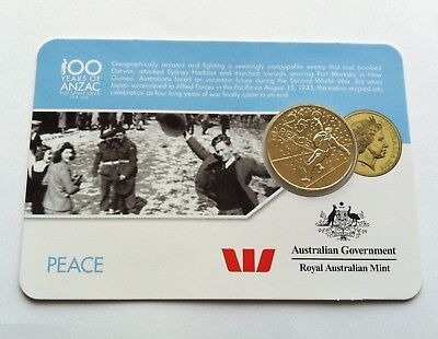 2016 ANZAC TO AFGHANISTAN RATS OF TOBRUK COIN ON CARD