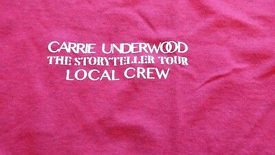 "CARRIE UNDERWOOD ""The Story Teller"" Tour Local Crew Shirt Size XL"