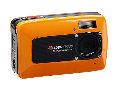 AGFA Photo  DC-600UW 6 Megapixel Digital Underwater Camera - Orange (IL/RT6-9...
