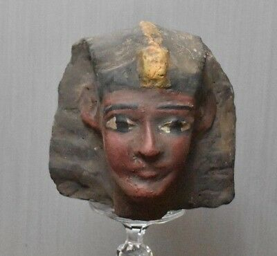 ANCIENT ANTIQUE Egyptian HEAD of  Ramesses II  stone   (1300-1200 BC)