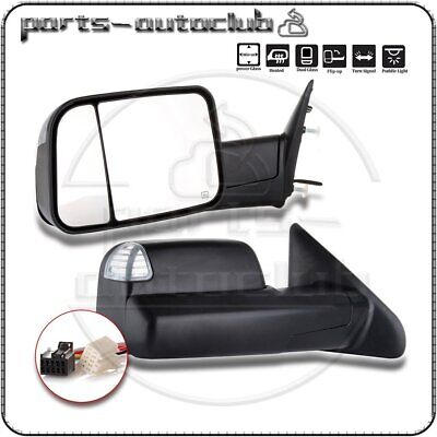 Powered Towing Extended Flip Up Side Mirrors 94-02 Dodge Ram 1500 2500 3500 98FS