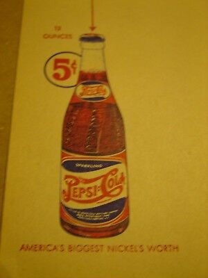 Double Dot- PEPSI:COLA   Bottling Company of Flat River,Mo. stationary sheet...