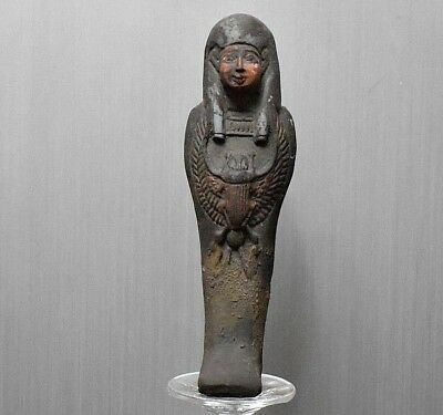 ANCIENT ANTIQUE Egyptian  beautiful USHABTI statue (300-1500 BC)