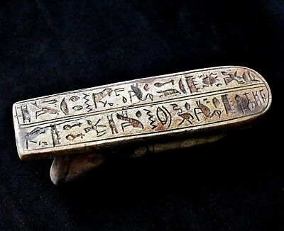 ANCIENT ANTIQUE Egyptian Ramesses With a written hieroglyphic in the back