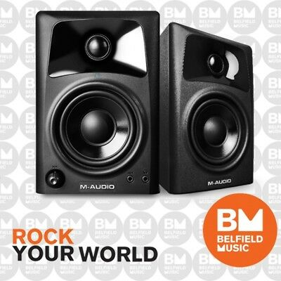 "M-Audio AV32 Desktop Powered Media Speaker Monitors 3 Inch Driver  3"" AV-32"