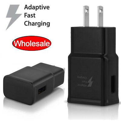 For Samsung Android Adaptive Fast Rapid 2A Wall Charger Adapter USB Cable Lot