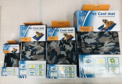 Size XXL Camouflage Cool Cooling Gel Mat Dog Cat Bed Non-Toxic Dog Summer Pad