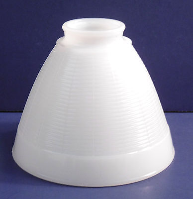 "Vintage Heavy Milk Glass Diffuser Torchiere Lamp Shade 2"" diameter Fitter"