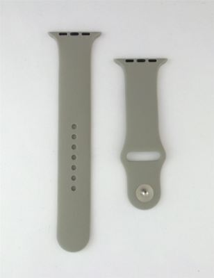 Apple Watch Band 42MM Silicone Sport Band Pin-Tuck Closure Gray AWBGY-42 New