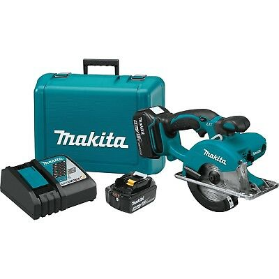 "Makita XSC01T 18V LXT Lithium-Ion Cordless 5-3/8"" Metal Cutting Saw Kit (... New"