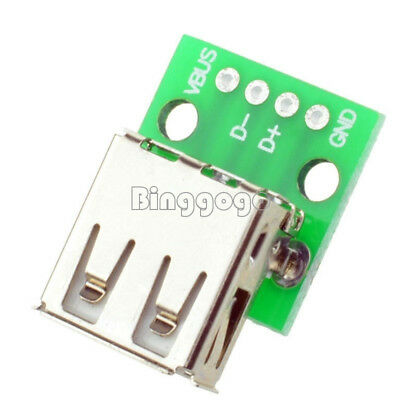 5PCS Type A Female USB To DIP 2.54MM PCB Board Adapter Converter For Arduino