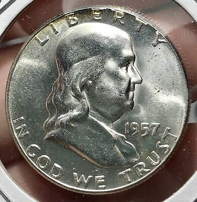 1957 Franklin Silver Half Dollar.*gem* Collector Coin For Your Collection Or Set